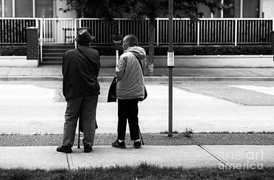 Waiting For The Bus Art Print by John Rizzuto