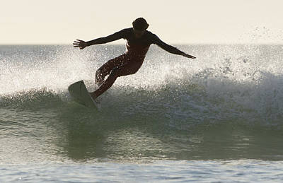 Wakeboarder Photograph - Wakeboarding Los Lances Beach Tarifa by Ben Welsh
