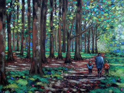 Andscape Pastel - Walk In The Park by John  Nolan