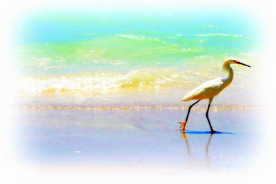 Digital Art - Walking Bird by Valerie Reeves