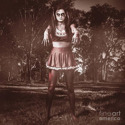 Walking Dead Schoolgirl Stumbling Back To School Art Print by Jorgo Photography - Wall Art Gallery