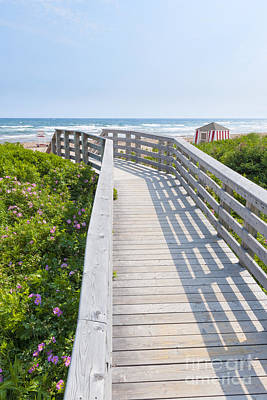 Beach Royalty-Free and Rights-Managed Images - Walkway to ocean beach by Elena Elisseeva