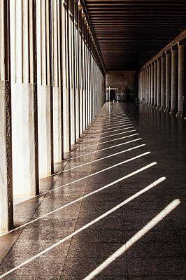Old And In The Way Photograph - Walkway With Columns, Ancient Agora by Reynold Mainse