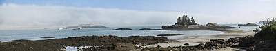 Photograph - Wallace Cove Fog Rolling In Panorama by Marty Saccone