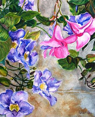 Painting - Wallflowers by Karen Ilari
