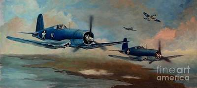Corps Painting - Walsh's Flight Color Study by Stephen Roberson