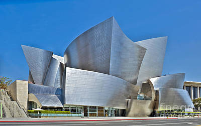 Photograph - Walt Disney Concert Hall Vertical Exterior Building Frank Gehry Architect 15 by David Zanzinger