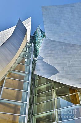 Photograph - Walt Disney Concert Hall Vertical Los Angeles Ca by David Zanzinger