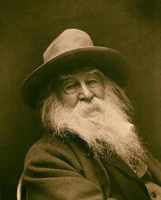 Walt Whitman 1886 Art Print by Mountain Dreams