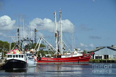 Photograph - Wanchese Harbor by Allen Beatty