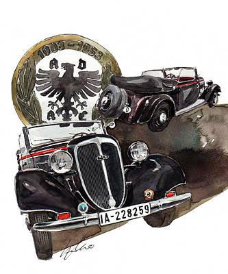 Wanderer W40 Cabrio Art Print