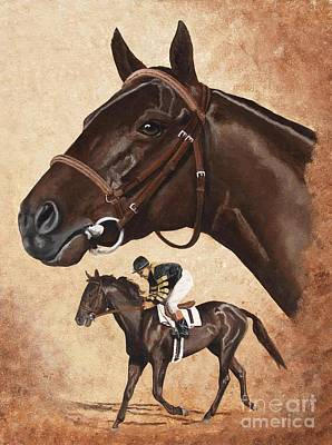 Horse Racing Painting - War Admiral by Pat DeLong
