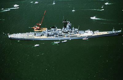 War Ship In New York Harbor, New York Art Print