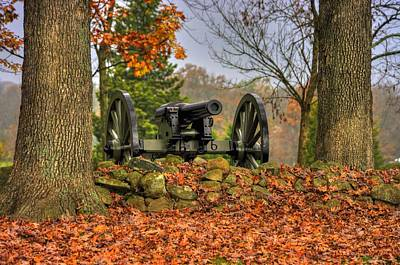 Art Print featuring the photograph War Thunder - The Charlotte North Carolina Artillery Grahams Battery West Confederate Ave Gettysburg by Michael Mazaika
