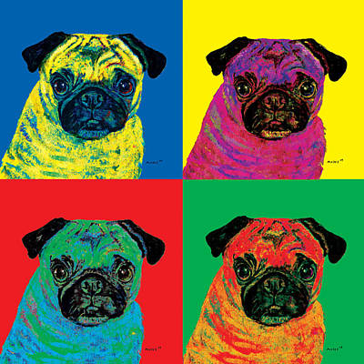 Painting - Warhol Pug by Dale Moses