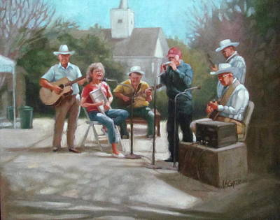 Painting - Washboard Music by Janet McGrath