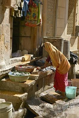 Hand Washing Photograph - Washing, India by Colin Cuthbert