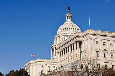 Washington Dc Capitol Of The United States Of America Art Print by Brandon Bourdages