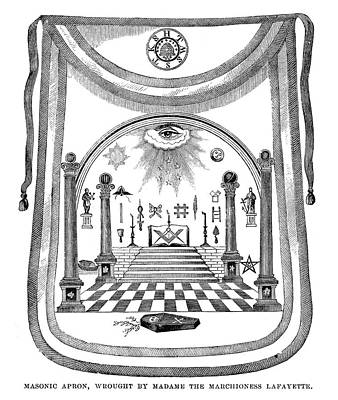 Washington Masonic Apron Art Print