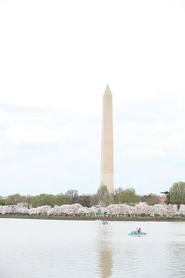 Washington Monument - Cherry Blossoms - Washington Dc - 01136 Art Print by DC Photographer