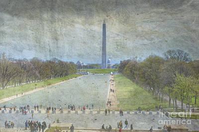 National Mall Photograph - Washington Monument Memorial Park National Mall Washington Dc by David Zanzinger