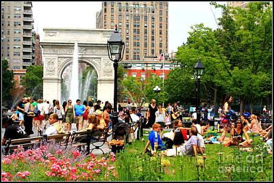Washington Square Park Original by Dora Sofia Caputo Photographic Art and Design