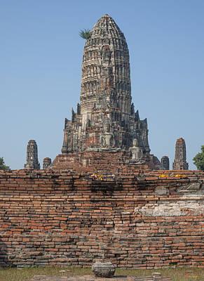 Photograph - Wat Chaiwatthanaram Ubosot Platform And Buddha Images Dtha0189 by Gerry Gantt