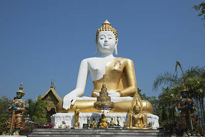 Doi Photograph - Wat Doi Kham Temple Buddha Chiang Mai by Stuart Corlett