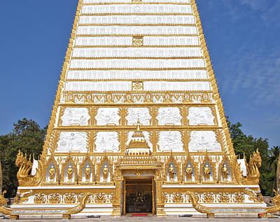 Photograph - Wat Nong Bua Main Stupa Base Dthu453 by Gerry Gantt