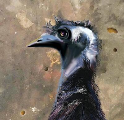 Emu Digital Art - Watch It by Lynne Wilson