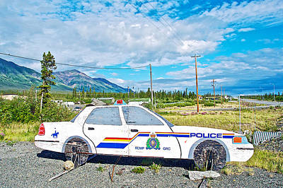 Watch Out For The Rcmp Near Destruction Bay In Yukon-canada Original