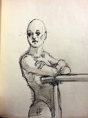 Watching Her Art Print by H James Hoff