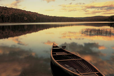 Nh Photograph - Water And Boat, Maine, New Hampshire by Panoramic Images