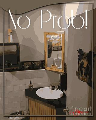 Wash Room Digital Art - Water Closet I Am All Washed Up Dafoi Art 1 Of 3  by Ruth  Benoit