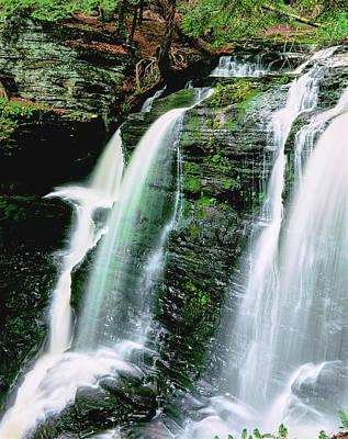 Water Falling From Rocks, Dingmans Art Print
