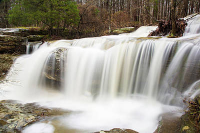 Shawnee Photograph - Water Falling From Rocks In A Forest by Panoramic Images