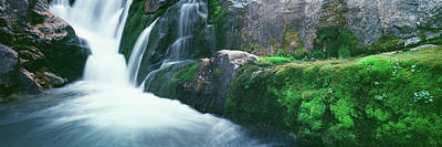 Water Falling From Rocks, South Fork Art Print by Panoramic Images
