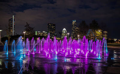 Cityscape Photograph - Austin Liz Carpenter Water Fountain  by Tod and Cynthia Grubbs