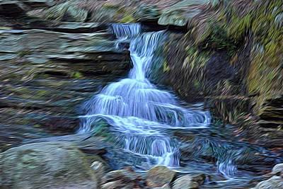 Water In Flow Motion Art Print by Douglas Miller