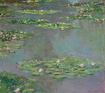 Waterlilies Painting - Water Lilies   Nympheas by Claude Monet