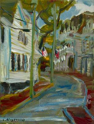Painting - Water Street Edgartown by Edward Ching