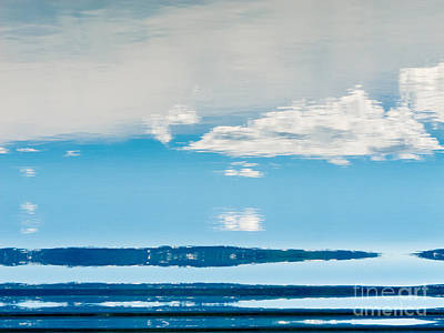 Personalized Name License Plates - Water Surface mirrored Landscape Abstract  by Stephan Pietzko