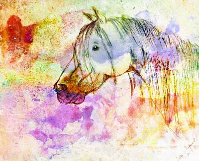 Photograph - Watercolor Horse Head - Digital Effect 2 by Debbie Portwood