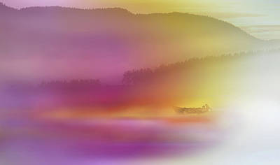 Watercolour Photograph - Watercolor Seascape by Heidi Westum
