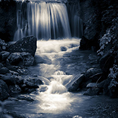 Photograph - Waterfall by Alex Saunders