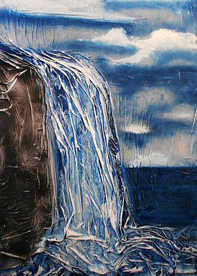 Mixed Media - Waterfall by Angela Stout
