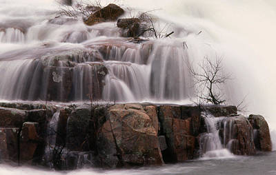 Photograph - Waterfall At Kingston Mills by Jim Vance
