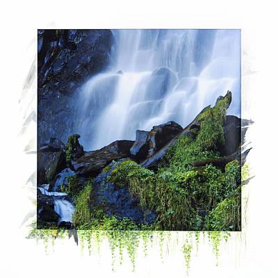 Waterfall Art Print by Bernard Jaubert