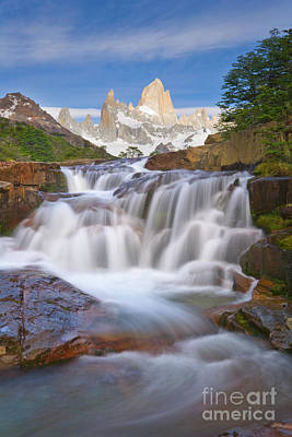 Photograph - Waterfall In Los Glaciares Np by Yva Momatiuk John Eastcott