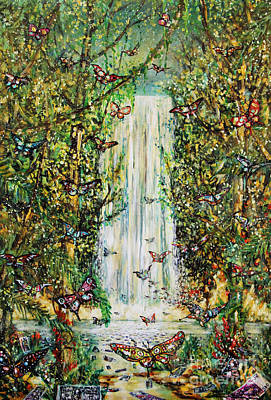 Waterfall Of Prosperity II Art Print
